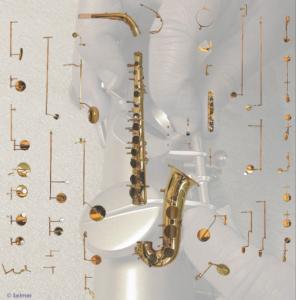 разобранный саксофон