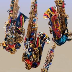 цветные саксофоны фото.2